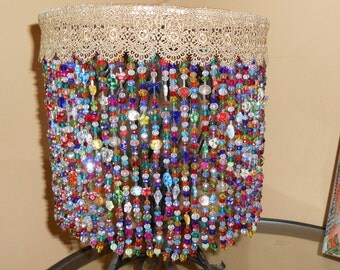 Special Introdutory Pricing!! Beautiful Handcrafted Artisan Beaded Lampshade