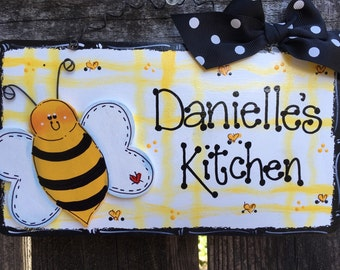 Bumble Bee Personalized sign Kitchen Home decor