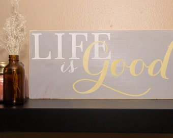 "DIY STENCIL for Custom Wood Sign ""Life Is Good"""