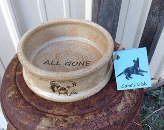 Unique Pet Food Dish Bulldog Dog Food Bowl