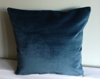 """Teal blue 16"""" cushion cover,  pillow, scatter cushion."""