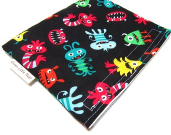 Reusable Snack Bag, Monsters Snack Bag, Children's Reusable Sandwich Bag, Alien Monster Snack Bag, Eco Snack Bag