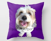 personalized pet pillow cover Custom Throw pillow cover Custom pet pillow from your photo Custom pop art pet pillow from photo Pop Art Pet