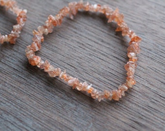 Sunstone Stretchy String Bracelet B101