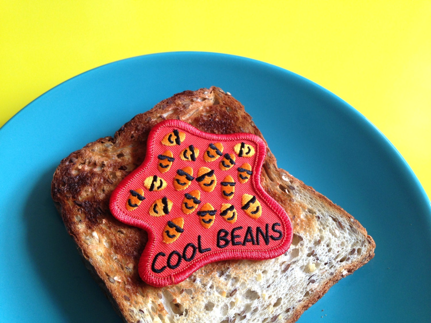 Cool beans patch funny embroidered iron on sew