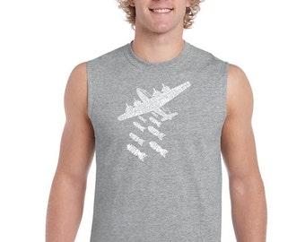 Men's Sleeveless Shirt - Drop Beats Not Bombs