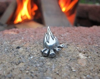 Campfire Lapel Pin- Fire, Adventure, and Camping Pins