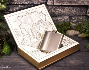 Hollow Book Safe & Hip Flask - Wicked - Son of a Witch (LEATHER-BOUND) – Modern Classic – Hollowed Out Book – Magnetic Snap Closure