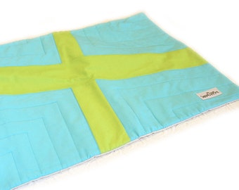 Crate Mat, Cross, CUSTOM, Small 23 by 16 Mat, Slip-proof Waterproof Base, Gift Ready, Dog, Cat, Couture, Travel, Washable