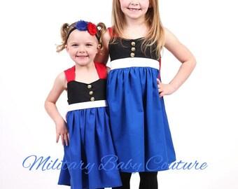 Marine Corps Dress Blues Dress-Option 2-Short Dress