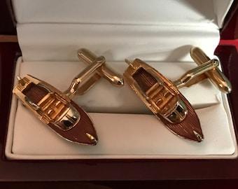 Rare Original Vintage SWANK Nauticals Runabout Cufflinks