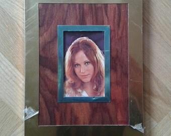 """VINTAGE 70S PICTURE Frame, Brass Frame, Unused Photo Frame, 8.5""""X 6.7"""" - Vintage New Picture Frame"""