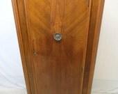 Antique Art Deco Walnut Gentlemens Wardrobe Armoire Fitted Interior Hall Foyer Closet Chiffarobe