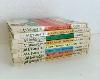 art linkletters picture encyclopedia for boys and girls, volumes 1 through 8