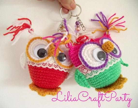 CROCHET PATTERN OWL Amigurumi Owl Key Chain Amigurumi Toy pdf
