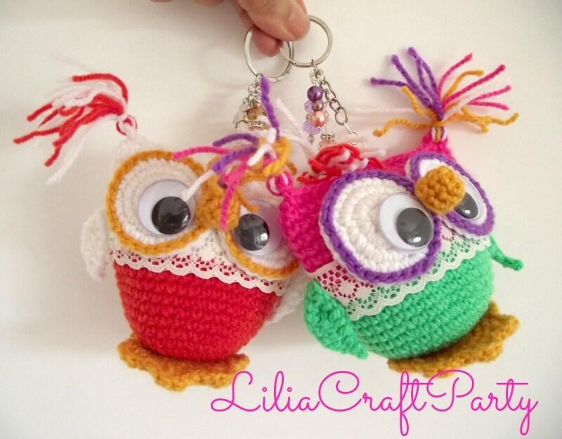 Amigurumi Owl Keychain : CROCHET PATTERN OWL Amigurumi Owl Key Chain Amigurumi Toy pdf