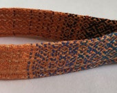 """Wrap Scrap Key Fob, made from Upcycled Handwoven Nejesa """"Sunset Silhouette"""" wrap scraps"""