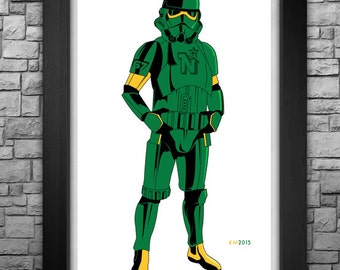 """STORMTROOPER """"Minnesota North Stars"""" inspired limited edition art print. Available in 3 sizes!"""