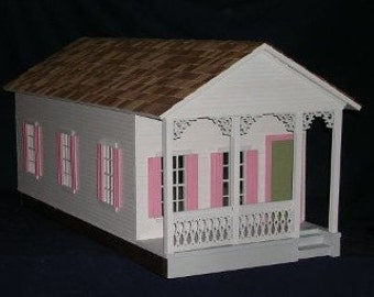 Adelaide, An Historic Shotgun Style Wooden Dolls House Kit, 1:12 Scale