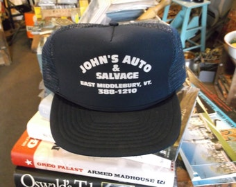 Vintage Trucker Snapback Hat - Baseball Hat - Auto Salvage
