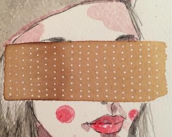 "Daily Illustration # 17/100 ""Veiled Lady 3"" Original Hand Drawn Fashion Illustration"
