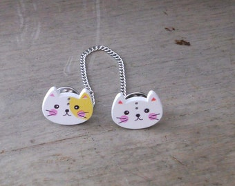 Sweater Pins, Cat Pins, Cat Sweater Pins, Cat Collar Pins