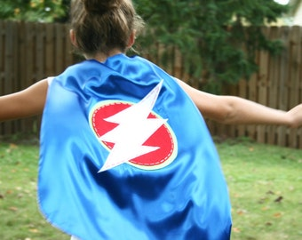 Superhero Cape PERSONALIZE/CUSTOMIZE-Boys Superhero Costume- Choose the Initial - Superhero Birthday Party