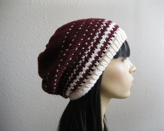 Knit Beanie - Slouchy Beanie - Womens Hat - Knitted Slouchy Beanie - Winter Hats - Beanies - Knit Beanie Hat - Slouchy Beanie Hat - Knit Hat