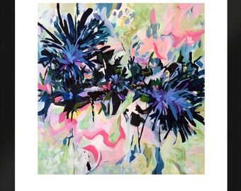 PRINT - Abstract print, floral print, pink, abstract painting, contemporary art, wall decor,
