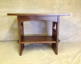 Solid 5/4 Mission Oak Game Table With Wedged Tennons U0026 Cutouts Free Shipping