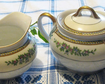 Vintage Sugar Bowl & Creamer Made In Japan-Lovely