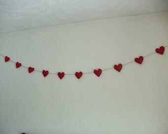 Red Heart Valentine Garland/Banner