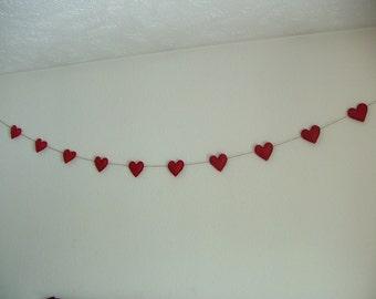 Red Heart Garland/Banner