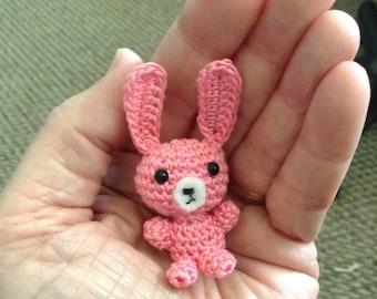 Crochet Tiny Pink Bunny Rabbit