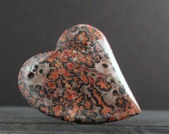 Beautiful leopard jasper pendant , Semiprecious gemstone , Jewelry making supplies S6976