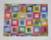 Set of 10 Color Blocks quilt note cards (folded)