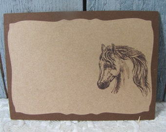 Horse Head Place Cards Food Buffet Label Tags Wedding Labels Equine Cards set of 12
