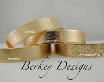 Keepsake Brass Mother of the Groom Hand Stamped Secret Message Bracelet