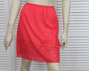 Vintage Short Red Half Slip Size Small Vanity Fair