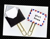 Planner Clip (Sold Individually) - Cha-Ching! Planner Clip - Gift Tag - Pocket Letter Clip - Tiny Envelope - Snail Mail Paperclip