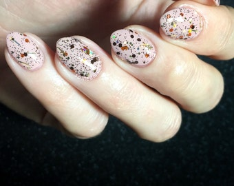 Acromantula - Custom Handcrafted Harry Potter inspired glitter topper glow in the dark Nail Polish