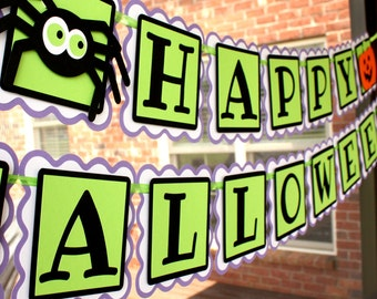 Halloween Party Banner . Halloween Decor . Happy Halloween Party Banner . Halloween Garland. Trick-or-Treat decorations . Fall Decor