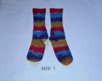 Children bamboo socks size 7, socks, hand dyed, OOAK