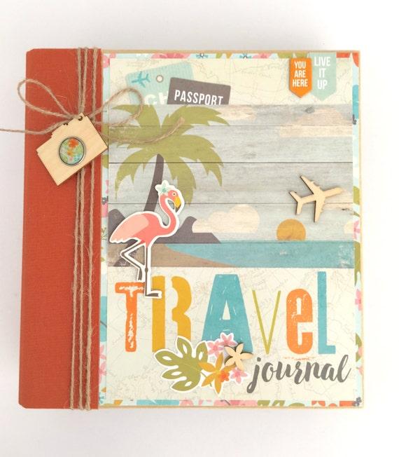 Travel Scrapbook Album Kit Or Premade Mini Scrapbook Album