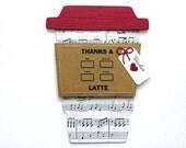 Thanks a Latte Music TEACHER Gift Card Holder