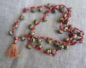 Vintage Animal Bells Bedouin Brass Bell Strand Necklace