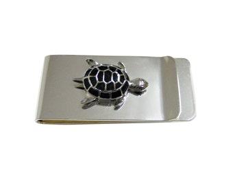 Black Turtle Tortoise Money Clip