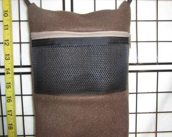 Sugar Glider Cage Set Zippered Bonding Pouch - Travel Bag - Brown
