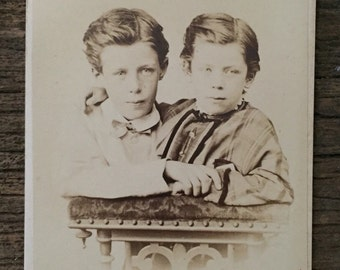 Original Antique CDV Photograph The Brothers
