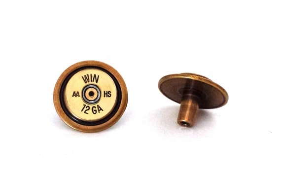 12 Gauge Shotgun Drawer Pull Knobs in Brass / Bullet Decor / Gun Outdoor Western Southwest Theme Decor / Man cave / Gifts for Him